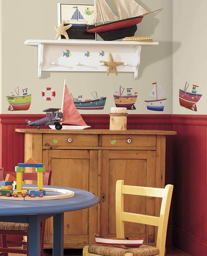 Nautical Stickers on furniture