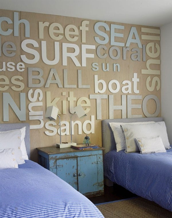 Bedroom Nautical letters