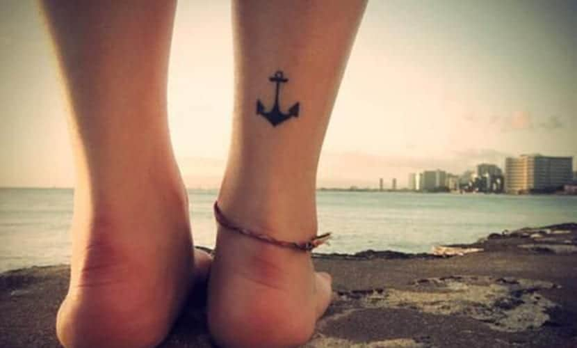 Anchor Tattoo back Ankle