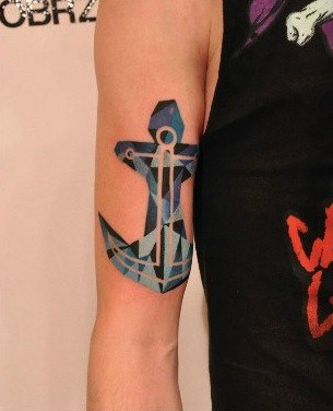 Arm Anchor Tattoo