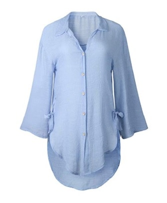 Blouse with Nautical 3-4 Tunic Top Blouse