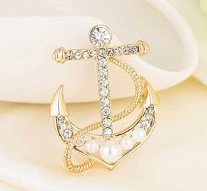 Nautical Anchor Brooch