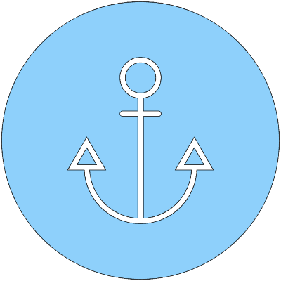 Anchor Drawing Inside Circle