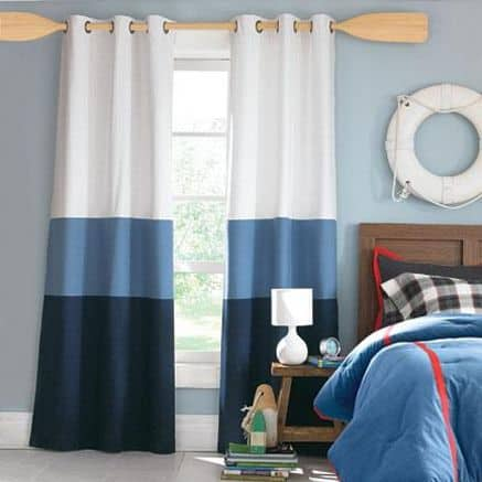 nautical bedding and curtain