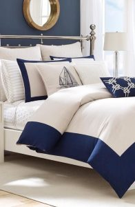 All White Bedding With Nautical Accents