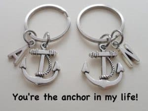 Anchor And Buoy Couples Keychain And Saying
