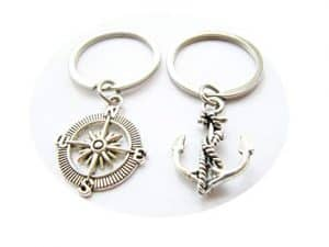Anchor And Compass Keychain