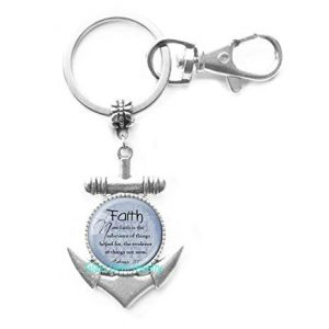 Anchor Keychain With Bible Verse