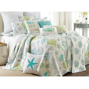 Aqua Nautical Bedding