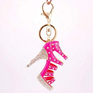Bling Pink Anchor Keychain