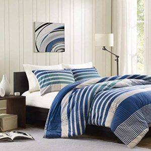 Blue And Off White Nautical Striped Bedding