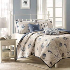Blue And Tan Nautical Bedding
