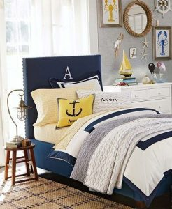 Blue And Yellow Nautical Bedding