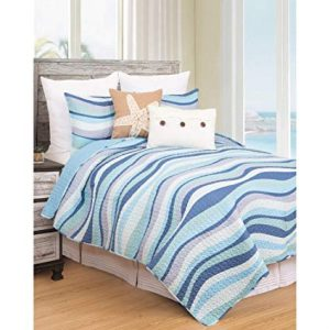 Coral Blue Nautical Twin Bedding