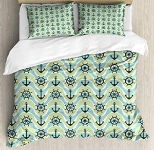 Dark Green Nautical Bedding Queen Size