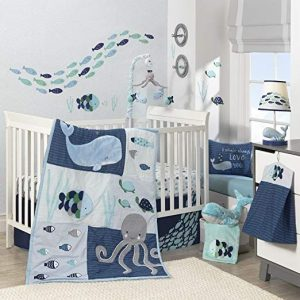 Fitted Crib Bedding Nautical Octopus