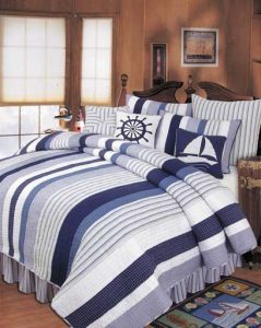 Nautical Bedding Anchor Masculine