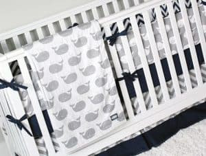 Nautical Boy Nursery Bedding For Gray Crib
