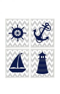 Nautical Crib Bedding Anchors And Wheels