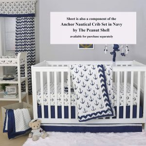 Nautical Nursery Bedding With Dark Crib