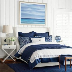 Nautical Salty Air Inspirstional Queen Bedding