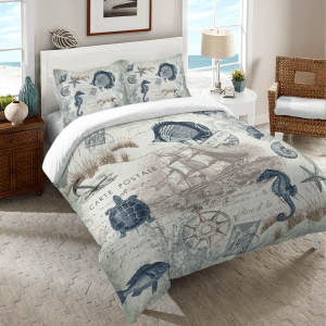 Nautical Seaside Postcard Bedding