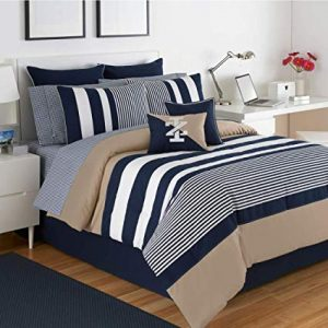 Navy And White Striped Bedding Nautical