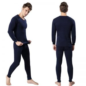 Navy Blue Mens Thermal Underwear Shirt