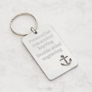 Personalized Anchor Keychain