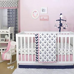 Pink And Blue Nautical Crib Bedding