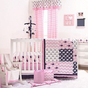 Pink Nautical Nursery Bedding