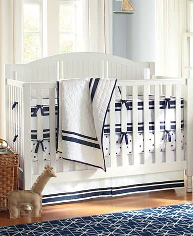 Offers - Pottery Barn Navy Blue Nautical Crib Bedding Online®】