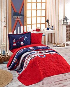 Nautical Bedding With Red