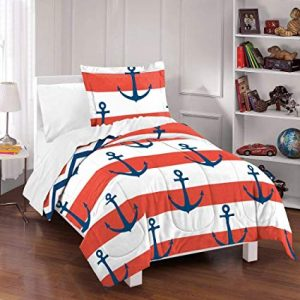 Red Nautical Themed Bedding