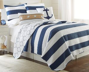 Royal Blue Nautical Quilt Bedding
