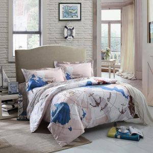 World Map Kids Nautical Bedding