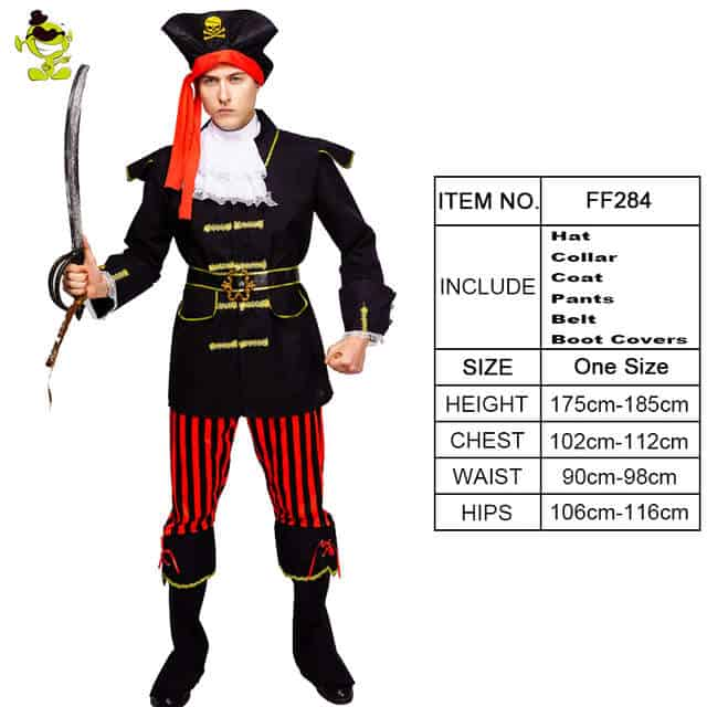 Smiffy/'s Teen Pirate Captain Fancy Dress Costume Party Outfit Size X-Small 13+