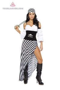 Black And White Pirate Costume