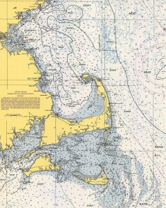 Cape Cod And Islands Nautical Chart Poster
