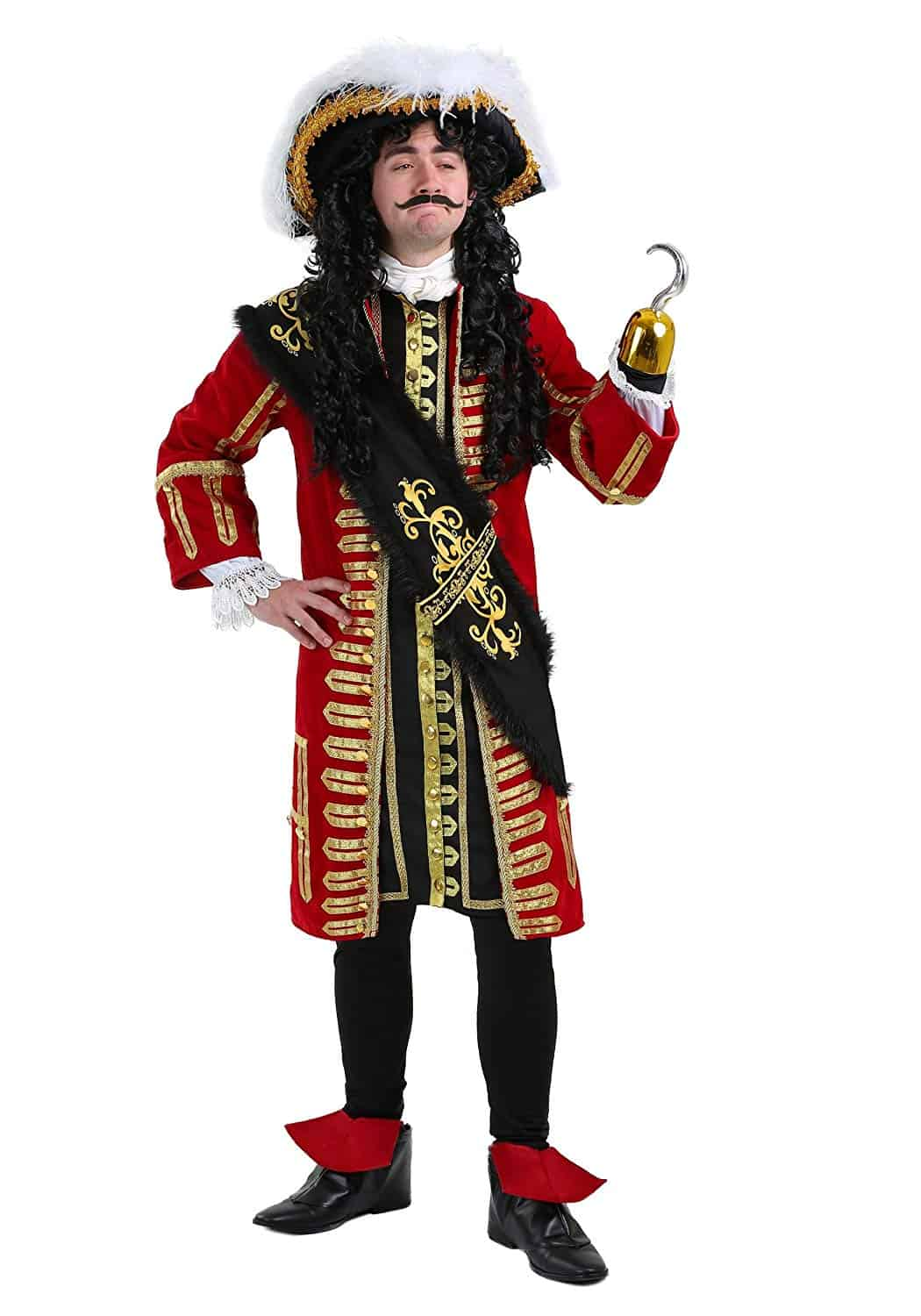 Boys Kids Childs PIRATE Fancy Dress Costume Party Outfit Captain Hook Age 4-12