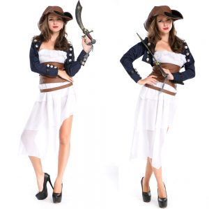Caribbean Pirate Costume Girl