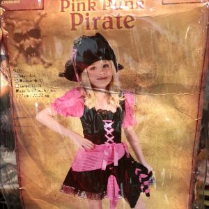 Child Pink Punk Pirate Costume