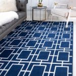 dark blue nautical rug