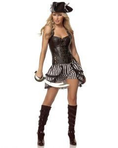 Deluxe Steampunk Pirate Costume