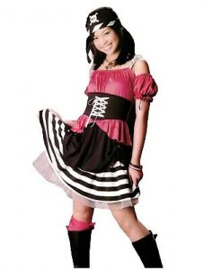 Girl Teen Pirate Costume