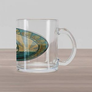 Nautical Glass Coffee Mug