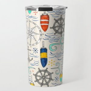 Nautical Travel Mug