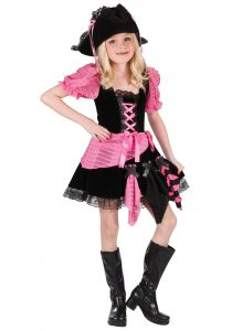 Pink And Black Pirate Costume