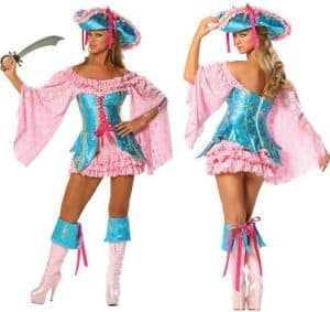 Pink And Blue Pirate Costume