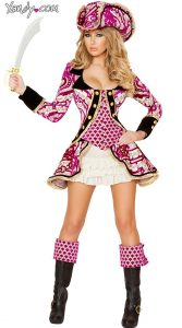 Pink Pirate Costume For Women